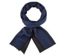 Feiner, gepunkteter Schal von Tom Rusborg in Blau für Herren