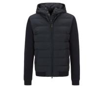 Daunen-Sweat-Jacke im Material Mix von Woolrich in Marine für Herren