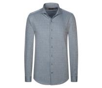 Freizeithemd mit Fischgrätstruktur von Tom Rusborg Premium in Grau für Herren