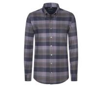 Warmes Flanellhemd von Tom Rusborg in Anthrazit für Herren