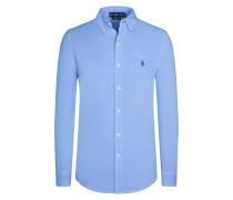 Modisches Freizeithemd im Polo-Look, Jersey in Hellblau für Herren