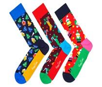 Geschenkbox, Socken 4er Pack  Gruen