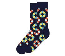 Socken mit Muster  Dunkel