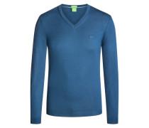 V-Pullover in 100% Schurwolle von Boss Green in Hellblau für Herren