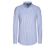 Freizeithemd, gestreift von Tom Rusborg in Marine für Herren
