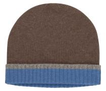 Warme Kaschmir-Strickmütze von Tom Rusborg Premium in Braun für Herren
