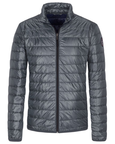 Leichte Steppjacke, Slim Fit in Grau