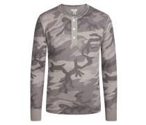 Modisches Serafino-Sweatshirt mit Camouflage-Muster von Denim & Supply Ralph Lauren in Grau