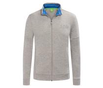 Sweatjacke im Baumwollmix von Boss Green in Grau für Herren