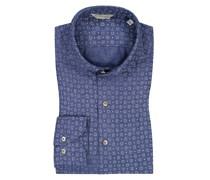 Leinenhemd im Minimalprint, Slimline