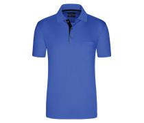 Poloshirt in mercerisierter Baumwolle, unifarben von Tom Rusborg in Hellblau für Herren