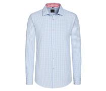 Slim Fit Karo Hemd von Tom in Hellblau für Herren
