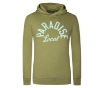 Hoodie Sweatshirt mit Frontprint von Scotch & Soda in Oliv für Herren