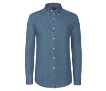 Slim Fit Jeanshemd in Blau für Herren