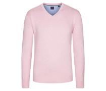 V-Neck Basic Pullover von Tom in Rose für Herren