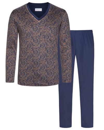 Pyjama mit Paisley-Muster in Marine