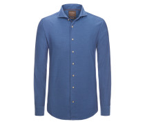 Leichtes Freizeithemd mit interessanter Struktur, Modern-Fit von Tom Rusborg Premium in Marine