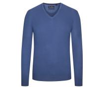 Pullover aus 100% Merinwolle von Tom Rusborg in Denim für Herren