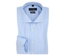 Gestreiftes Slim Fit Vollzwirn-Hemd von Tom Rusborg in Hellblau für Herren