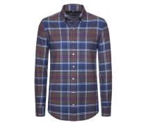 Kariertes Flanellhemd aus reiner Baumwolle von Tom Rusborg in Braun für Herren