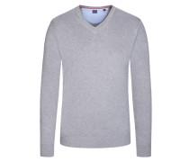 V-Neck Basic Pullover von Tom in Anthrazit für Herren