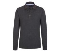 Polo-Kragen Sweatshirt, Regular Fit von Tom Rusborg in Anthrazit für Herren