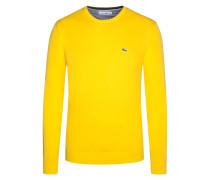 Rundhals-Pullover von Lacoste in Gelb für Herren