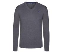 Hochwertiger Basic V-Neck Pullover von Hackett in Anthrazit für Herren