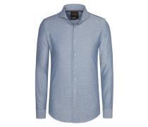 Trendiges Haifischkragen-Hemd, Modern-Fit von Tom Rusborg Premium in Blau für Herren