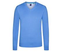 V-Neck Basic Pullover von Tom in Hellblau für Herren
