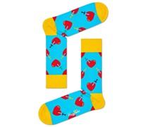 Socken mit Herz-Motiv  Hell