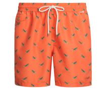 Gemusterte Badehose, Traveler Swim von Polo Ralph Lauren in Orange für Herren