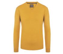 V-Neck Pullover aus 100% Kaschmir von Tom Rusborg Premium in Gelb für Herren