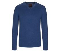 V-Neck Pullover aus 100% Kaschmir von Tom Rusborg Premium in Denim für Herren