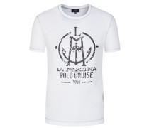 Lässiges T-Shirt mit Logo-Print von La Martina in Weiss für Herren