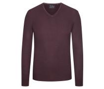 Pullover aus 100% Merinwolle von Tom Rusborg in Lila für Herren