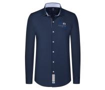 Unifarbenes Freizeithemd in Slim Fit von La Martina in Marine für Herren