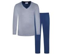 Schlafanzug von Novila in Blau für Herren