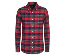 Kariertes Flanell-Freizeithemd von Tom Rusborg in Rot für Herren