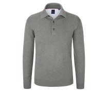 Pullover mit Polokragen von Tom Rusborg in Grau für Herren