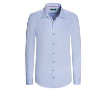Trachtenhemd mit modischem Muster von Gloriette in Blau für Herren