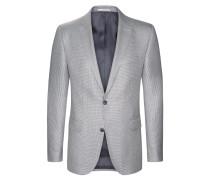 Hochwertiges Wolle-Seide Sakko mit Pepita-Musterung von Tom Rusborg Premium in Schwarz für Herren