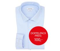 Businesshemd, modische Struktur von Calvin Klein in Hellblau für Herren