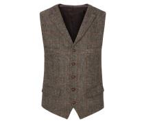 Hochwertige Weste aus 100% Schurwolle, Harris Tweed von Tom Rusborg in Beige für Herren