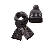 Mütze & Schal im Set von Tom Rusborg in Schwarz für Herren