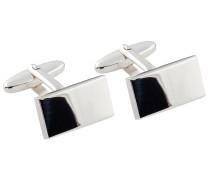 Rechteckige Manschettenknöpfe poliert von Tom Rusborg Premium in Silber für Herren