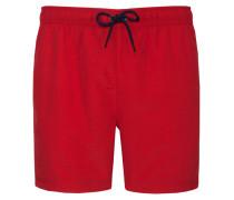 Badehose uni von Tom in Rot für Herren