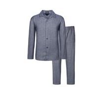Softer Flanell-Schlafanzug im Fischgrät-Dessin von Novila in Blau für Herren