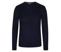 Pullover aus reiner Wolle  Marine