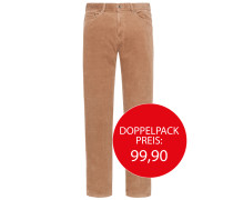 Cordhose in 5-Pocket-Form von Tom Rusborg in Beige für Herren